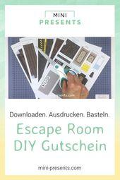 Invitations  Escape Room Gutschein als Explosionsbox zum selber machen