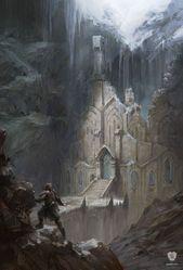 Kunstwerk Snow Elf Temple   Skyrim   Bethesda Softworks – #Artwork #Bethesda #Elf #Skyrim #Schnee