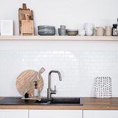 Küchenrückwand aus Fliesenaufklebern: Metro-Flie…