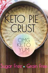 Grain free, sugar free, dairy free keto pie crust!…