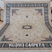 Yilong 9'x12' Antique oriental hand knotte…