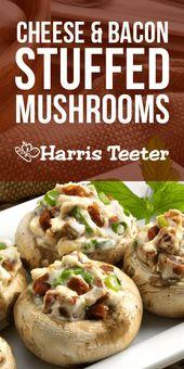 Cheese & Bacon Stuffed Mushrooms