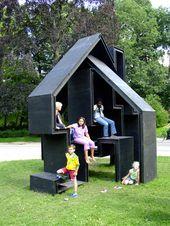 15 moderne Spielhäuser für fröhliche Hinterhöfe – Dekoration Ideen
