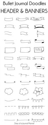 Bullet Journal Header – 14 lächerlich einfache Banner und Header – loopyluna