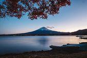 'Mount Fuji Autumn' Photographic Print by opticpixil