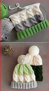 #stricken für kinder anleitungen Cozy Cable Knit Hat – Free Pattern #knitting …