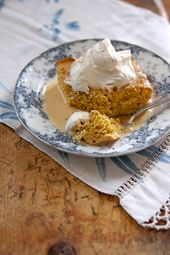 Pumpkin Tres Leches: This cake's light and airy texture is similar to this c…