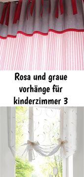 Pink and gray curtains for kids room 3  – vorhänge