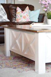 How to Build a Farmhouse Coffee Table (with storag…