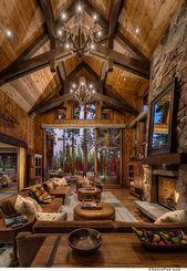 High Wood Beam Ceilings