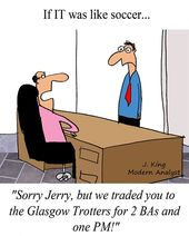 Humor – Cartoon: If Information Technology (IT) was like soccer (football)
