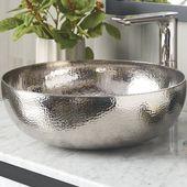 Native Trails, Inc. Maestro Metal Circular Vessel Bathroom Sink Sink Finish: Polished Nickel