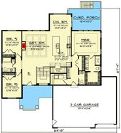 Craftsman Home Plan with Open Concept Floor Plan