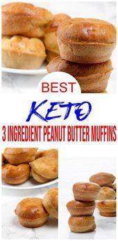{Muffins Keto} Muffins fáciles de mantequilla de maní de 3 ingredientes que querrás comprobar …