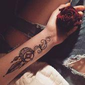 Wunderschöne Unterarm-Tattoos für Mädchen und Männer – Zentangle Zeichnungen