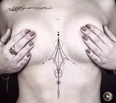 Breast tattoo for women