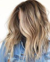 Hair goals | Balayage | Blonde | Brown | Denim jacket | Inspiration | More on Fa…   – Haar