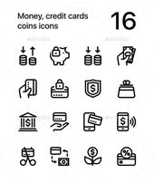creditcard icon #creditcard Money Credit Cards Coins Icons for Web and Mobile De…