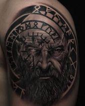 Fotos von slawischen und skandinavischen Tattoos – Tattoos – #Fotos #skandinavis… – Wikinger tattoo
