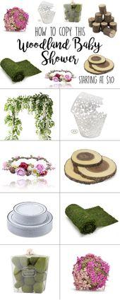 Wald-Baby-Dusche-Thema-Ideen – rustikale Wald-Baby-Dusche – #shower #shower #idea …   – Dekoration-Babyparty