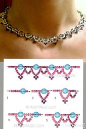 Free instructions for pearl necklace with seed beads and pearls. DIY Pearl Jewelry …