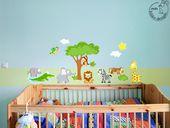 """Wandgestaltung – Wandtattoo SET """"Baby"""" 9 Welttiere Afrika Dschungel – ein …   – Deko"""