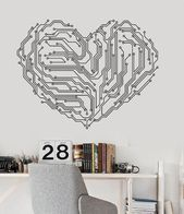 Vinyl Wall Decal Heart Chip Computer Geek Engineer Stickers Mural Unique Gift (122ig) – #engineeringstickers