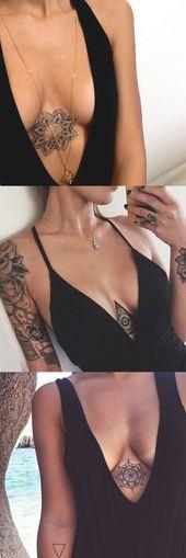 Geometrische Mandala Sternum Tattoo-Ideen bei MyBodiArt.com – Tribal Evil Eye Underb  – Art