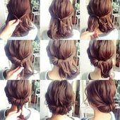 Einfache Hochsteckfrisuren für kurze Haare   – simple hairstyles For Medium H