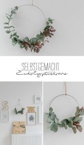 Last year my favorite Christmas decoration was made of eucalyptus – remember …  – DIY X-M …   – my pano