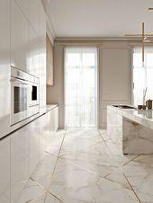 Erstaunliche elegante Küche mit Goldnoten