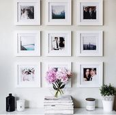 Wall gallery above couch or hallway – #abovecouch …