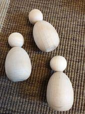 Wooden Blank Doll. Wooden Figure Tomte Ready