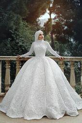 Moderna Hijab brudklänningsmodeller   I kadinev.co