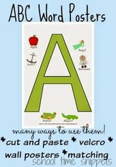 Free A-Z Word Poster Printables