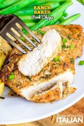These easy Ranch Bak These easy Ranch Baked Pork Chops are tender juicy pork cho…