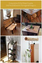 Erstaunliche 25 DIY Möbelprojekte und Haushaltswaren homegardenmagz.co …, # …   – mobeldekor