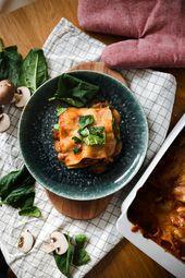 Champignon Spinat Lasagne Mit Veganer Bechamelsauce Alltagstaugliche Vegane Rezepte In 2020 Rezepte Vegane Rezepte Lebensmittel Essen