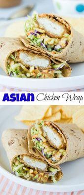 Asian Chicken Wraps – ein einfaches Hühnchen-Wrap mit …
