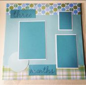 12×12 Baby's First Year (in Months) Pre-Made Scrapbook Pages (12 Pages) – Baby Boy; Just Add Photos; Baby's Monthly Pictures; Baby Book  – Products