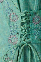 Okhai Fae Embroidered Cotton Kurta Okhaistore Handcrafted Fashion Elegant Embroidery Embroidered