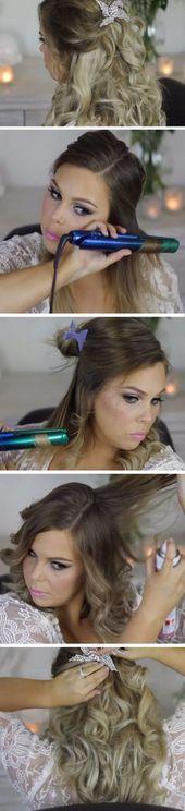 38 Trendy wedding hairstyles princess bridesmaid curls,  #Bridesmaid #curls #diyweddinghairst…