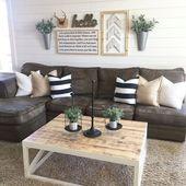 Gute Möglichkeit, die Wand über der Couch zu füllen, anstatt …