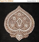Paisley motif handcarved indian block print stamp / Tjap / wood block for printing / textile ceramic stamp / paper and fabric print   – Aman Malik