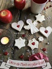 salt dough Christmas ornaments – décos de Noël pâte à sel