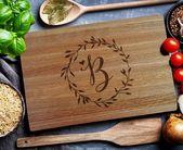 Custom Cutting Board, personalized cutting Board,Wedding Monogram, kitchen sign (1011)