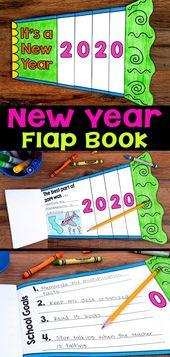 New Year Goal Setting Flap Book Craftivity