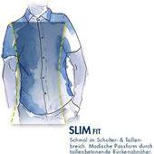 Dunmore Herren Business-Hemd, 1/1 Arm, Kent, regular fit, dunkelblau, 44Galeria.de