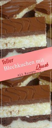 Toller Kuchen mit Hüttenkäse. # Kochen # Rezepte #Einfach # Lecker   – Kuchenrezepte