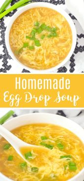 """This easy delicious Homemade Egg Drop Soup Recipe is just like your favorite Ch…"